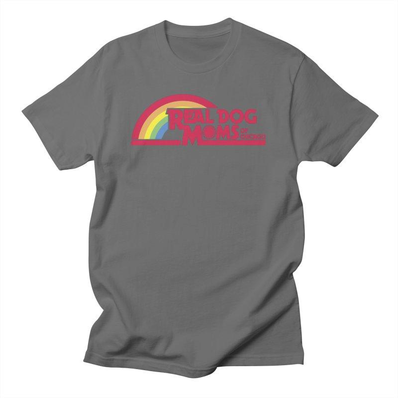 Dog Mom Rainbow Men's T-Shirt by rdmoc's Artist Shop