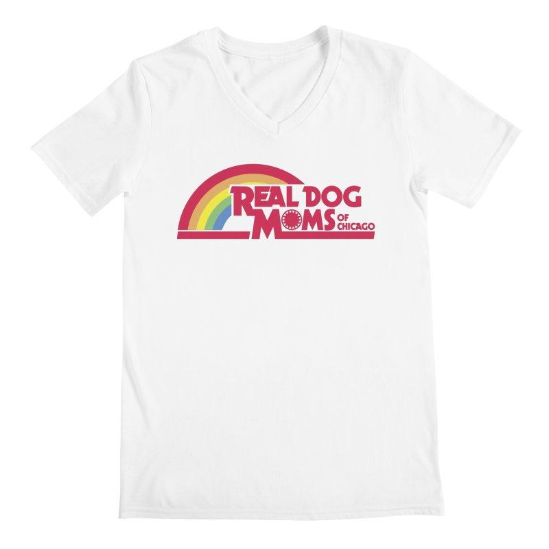 Dog Mom Rainbow Men's V-Neck by rdmoc's Artist Shop