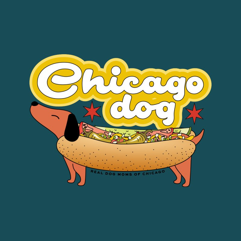 Chicago Dog Men's T-Shirt by rdmoc's Artist Shop