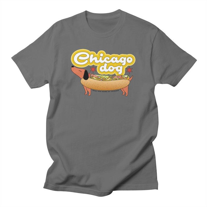 Chicago Dog Men's T-Shirt by rdmoc's Artist Shop