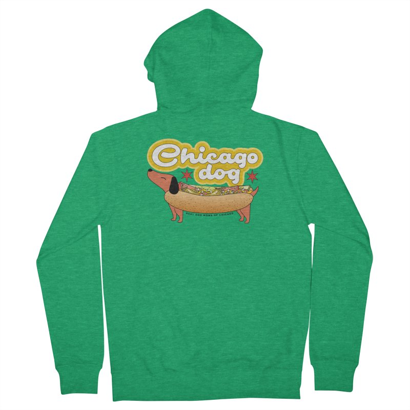Chicago Dog Men's Zip-Up Hoody by rdmoc's Artist Shop