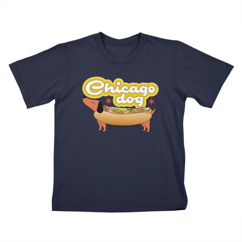 Chicago Dog Kids T-Shirt by rdmoc's Artist Shop