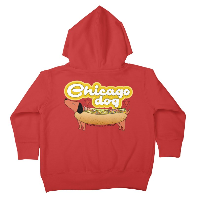 Chicago Dog Kids Toddler Zip-Up Hoody by rdmoc's Artist Shop