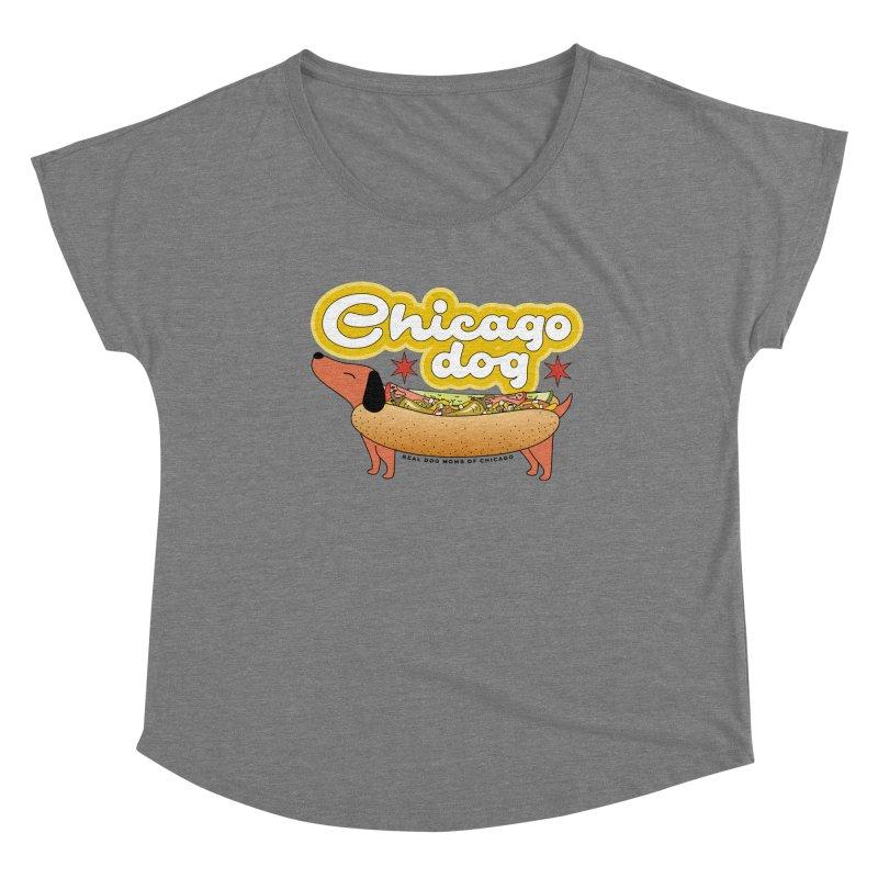Chicago Dog Women's Scoop Neck by rdmoc's Artist Shop
