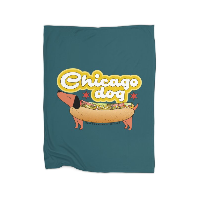 Chicago Dog Home Blanket by rdmoc's Artist Shop