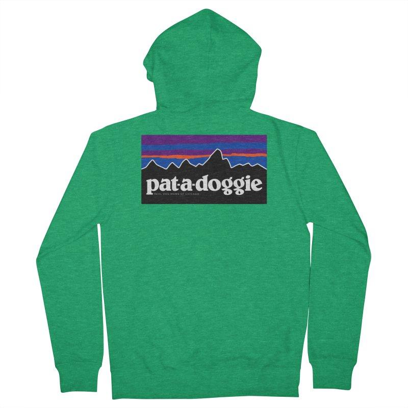 pat-a-doggie Women's Zip-Up Hoody by rdmoc's Artist Shop