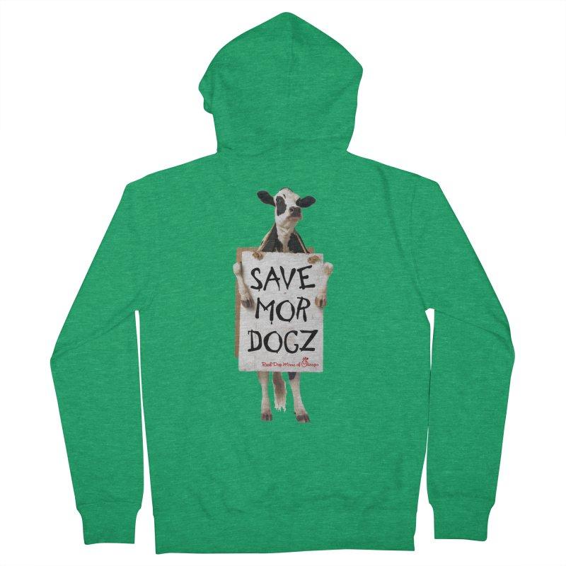 Chick-fil-dog Men's Zip-Up Hoody by RDMOC's Artist Shop