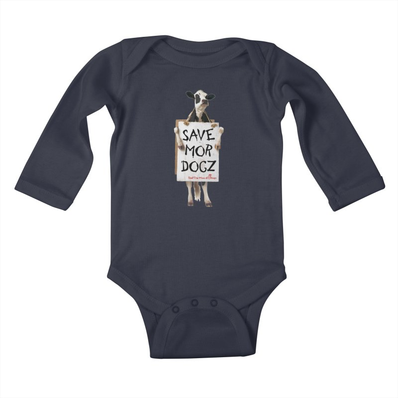 Chick-fil-dog Kids Baby Longsleeve Bodysuit by RDMOC's Artist Shop
