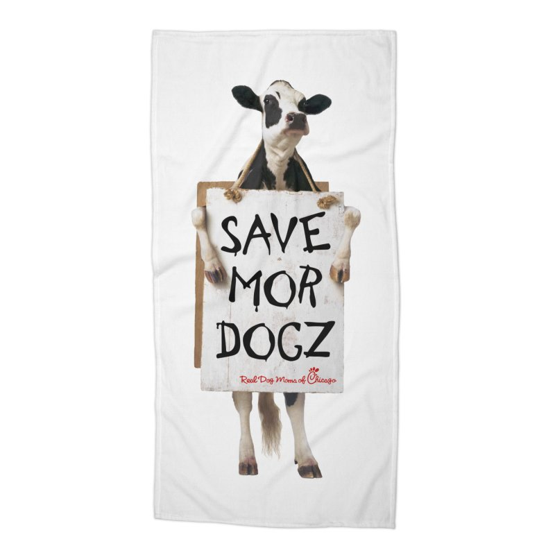 Chick-fil-dog Accessories Beach Towel by RDMOC's Artist Shop