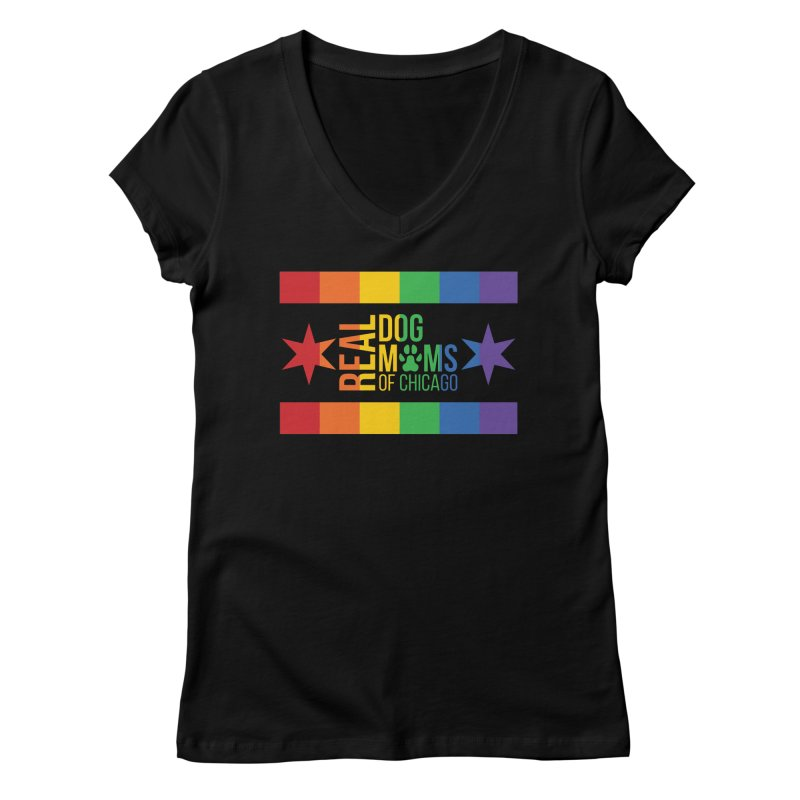 Pride Mom Women's V-Neck by rdmoc's Artist Shop