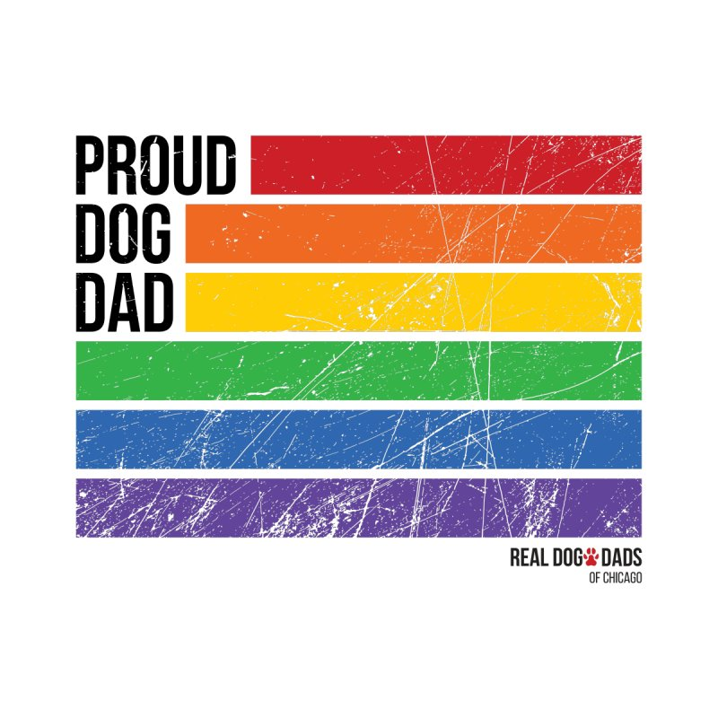 Proud Dog Dad Men's T-Shirt by rdmoc's Artist Shop