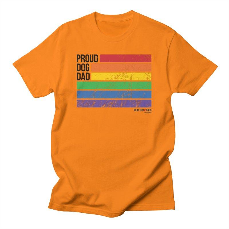 Proud Dog Dad Men's T-Shirt by rdmoc's Artist Shop