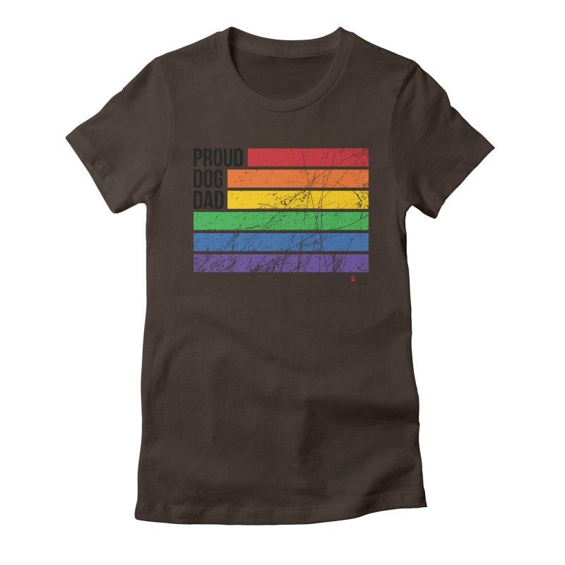 Proud Dog Dad Women's T-Shirt by rdmoc's Artist Shop