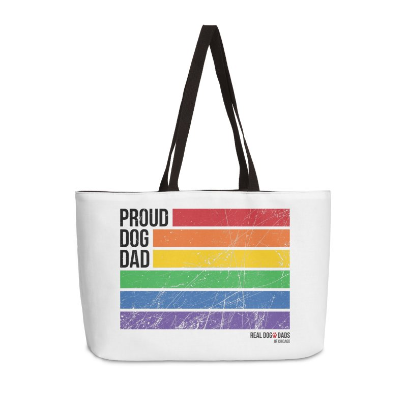 Proud Dog Dad Accessories Bag by rdmoc's Artist Shop
