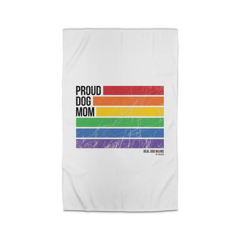 Proud Dog Mom Home Rug by rdmoc's Artist Shop
