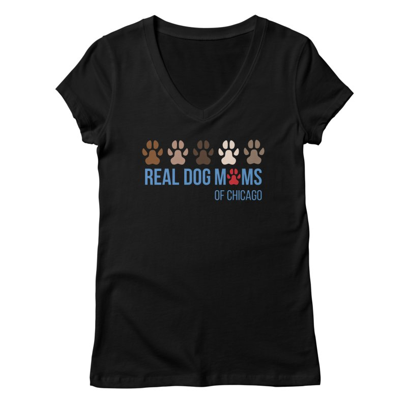 Paws Up Women's V-Neck by RDMOC's Artist Shop