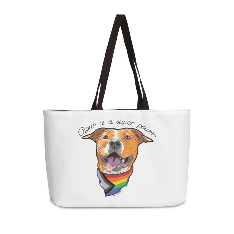 Love is a Super Power Accessories Bag by rdmoc's Artist Shop