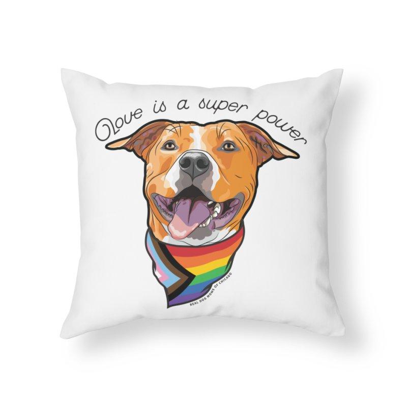 Love is a Super Power Home Throw Pillow by rdmoc's Artist Shop