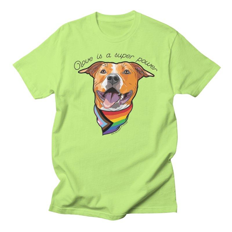 Love is a Super Power Men's T-Shirt by RDMOC's Artist Shop