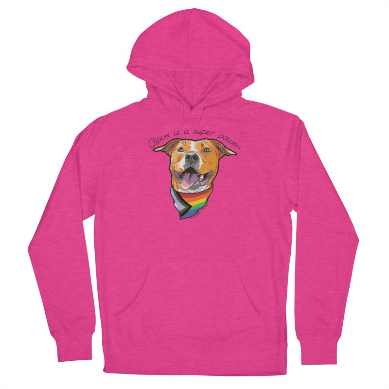 Love is a Super Power Women's Pullover Hoody by RDMOC's Artist Shop