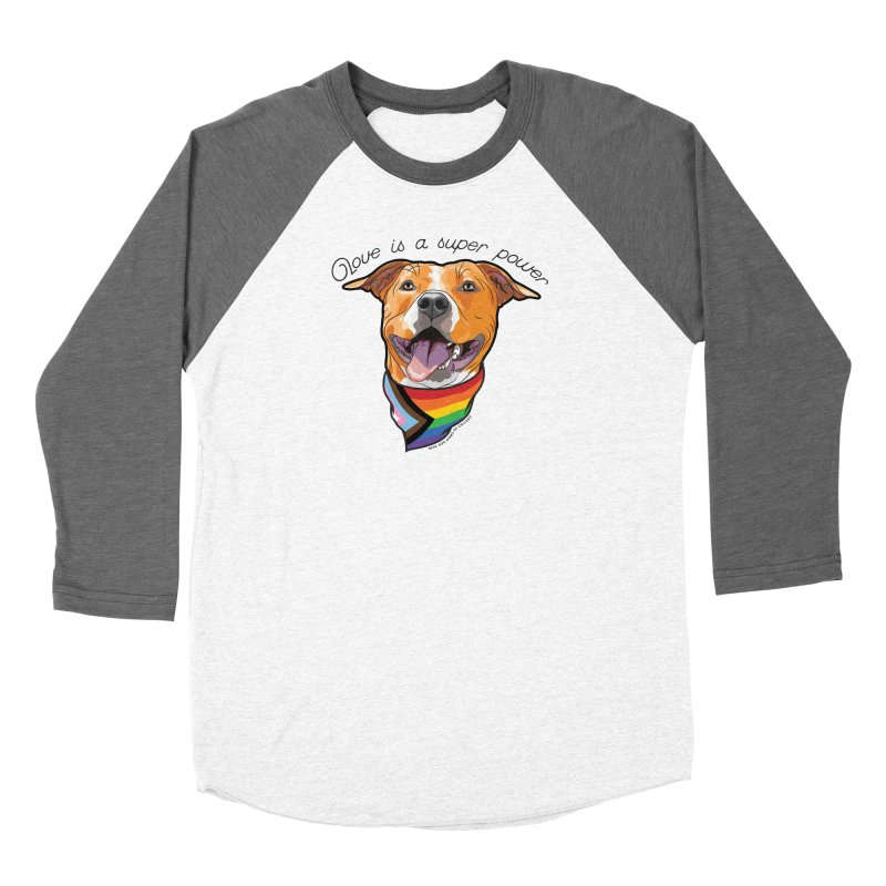Love is a Super Power Women's Longsleeve T-Shirt by rdmoc's Artist Shop