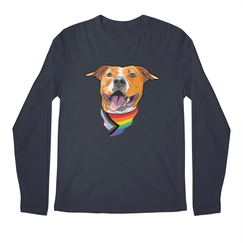 Love is a Super Power Men's Longsleeve T-Shirt by RDMOC's Artist Shop