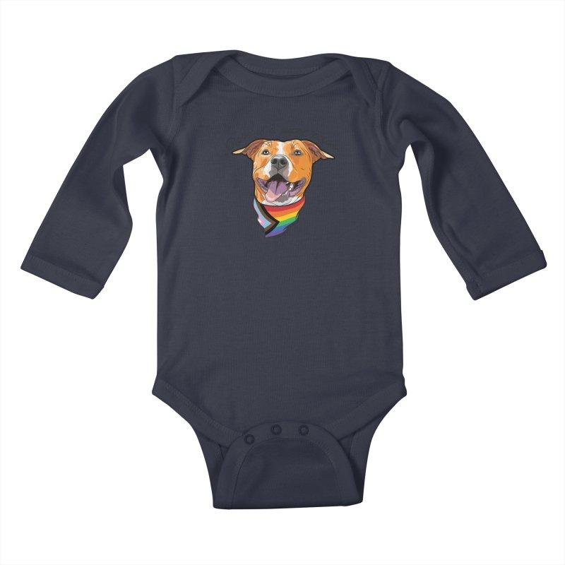 Love is a Super Power Kids Baby Longsleeve Bodysuit by RDMOC's Artist Shop