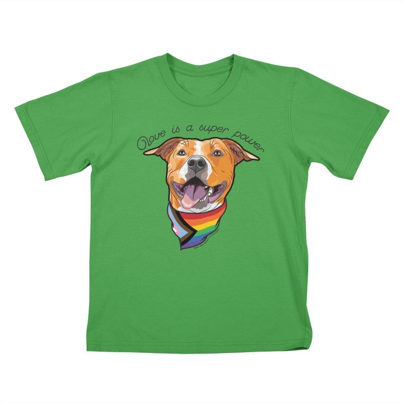 Love is a Super Power Kids T-Shirt by rdmoc's Artist Shop