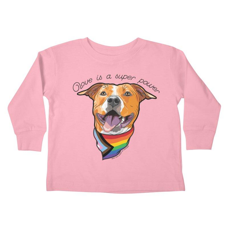 Love is a Super Power Kids Toddler Longsleeve T-Shirt by rdmoc's Artist Shop