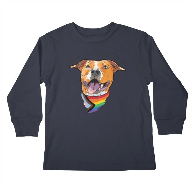 Love is a Super Power Kids Longsleeve T-Shirt by rdmoc's Artist Shop