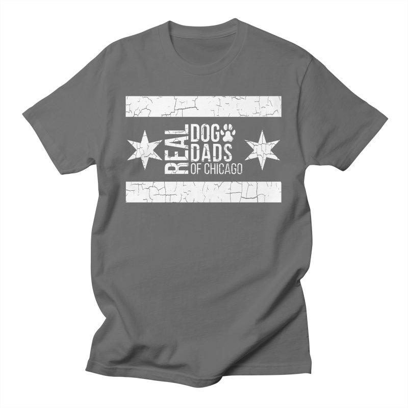Chicago Dog Dad Men's T-Shirt by rdmoc's Artist Shop