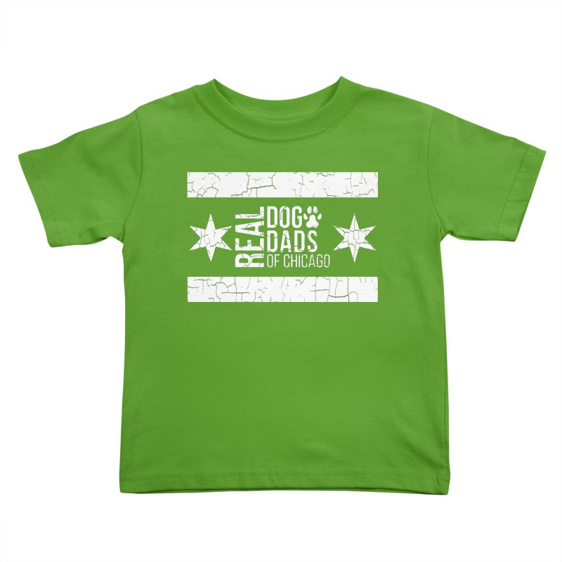 Chicago Dog Dad Kids Toddler T-Shirt by rdmoc's Artist Shop