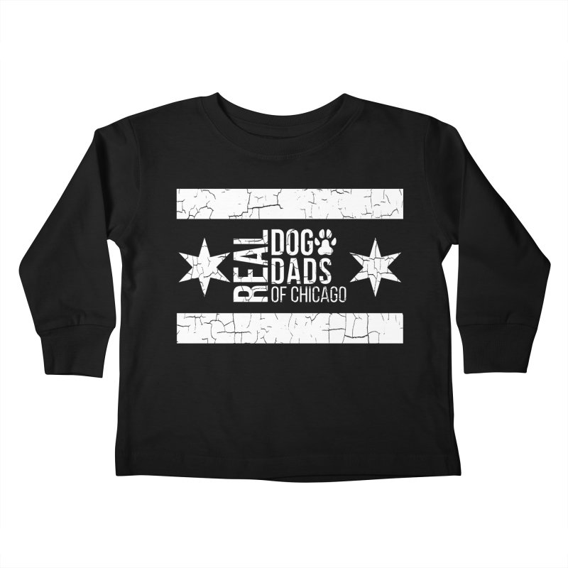 Chicago Dog Dad Kids Toddler Longsleeve T-Shirt by rdmoc's Artist Shop