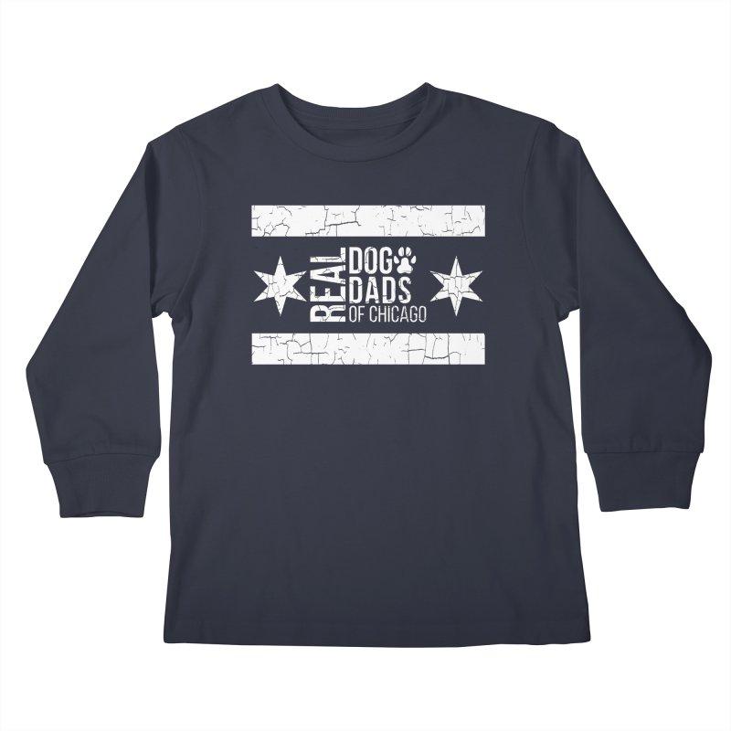 Chicago Dog Dad Kids Longsleeve T-Shirt by rdmoc's Artist Shop