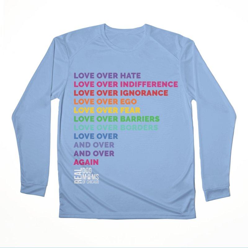 Love Over Everything - White Logo Men's Longsleeve T-Shirt by RDMOC's Artist Shop