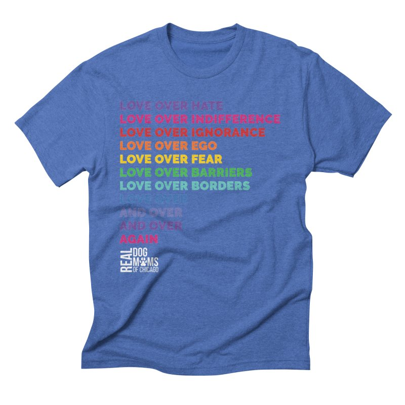 Love Over Everything - White Logo Men's T-Shirt by rdmoc's Artist Shop