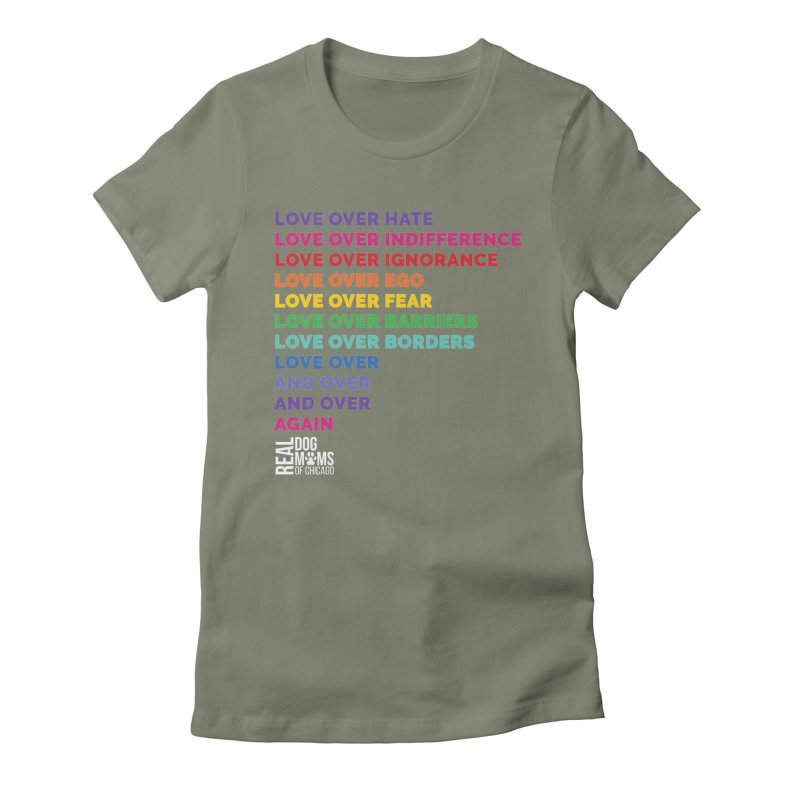 Love Over Everything - White Logo Women's T-Shirt by rdmoc's Artist Shop