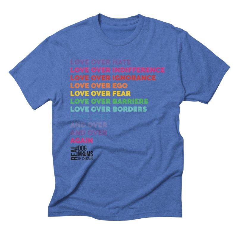 Love Over Everything - Black Logo Men's T-Shirt by rdmoc's Artist Shop