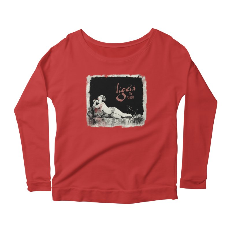 Ligeia the Vampire - 1924 Women's Longsleeve Scoopneck  by RDRicci's Artist Shop