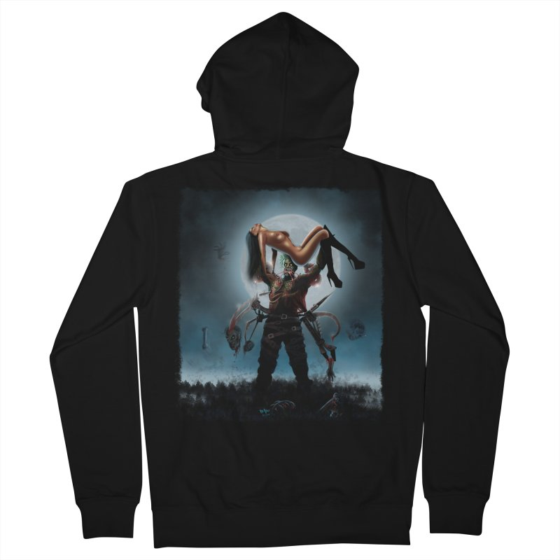 Necrophagus Vampire Lord Men's Zip-Up Hoody by RDRicci's Artist Shop