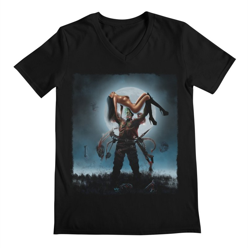 Necrophagus Vampire Lord Men's V-Neck by RDRicci's Artist Shop