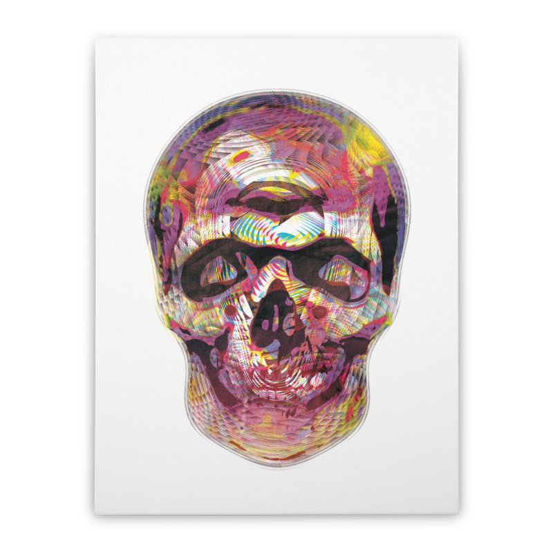 Sharped skull Home Stretched Canvas by re3a's Artist Shop