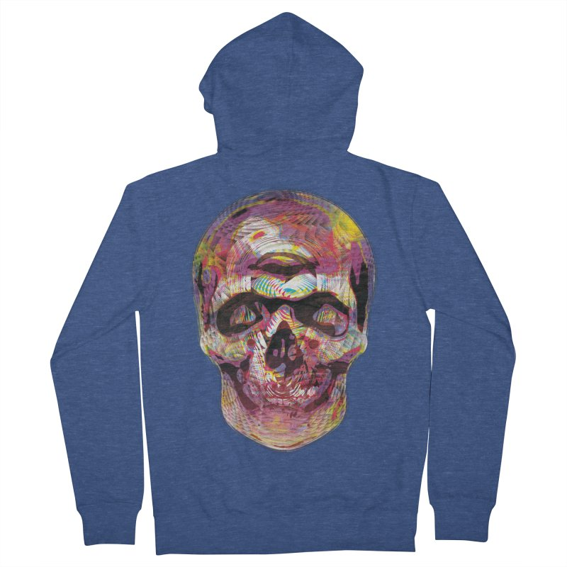 Sharped skull Women's French Terry Zip-Up Hoody by re3a's Artist Shop