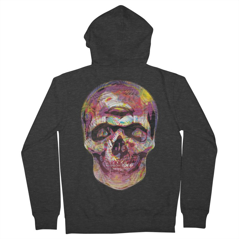Sharped skull Men's Zip-Up Hoody by re3a's Artist Shop