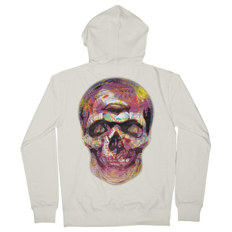 Sharped skull Men's Zip-Up Hoody by re3a's Artist Shop