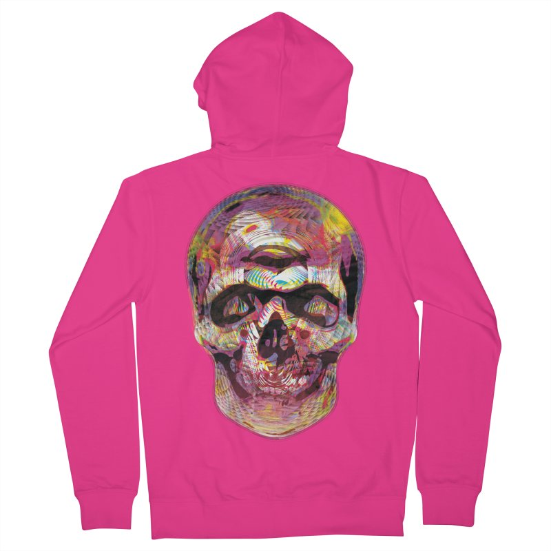 Sharped skull Men's French Terry Zip-Up Hoody by re3a's Artist Shop