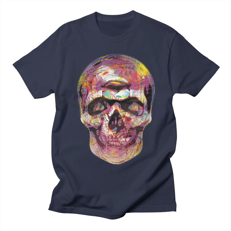 Sharped skull Men's Regular T-Shirt by re3a's Artist Shop