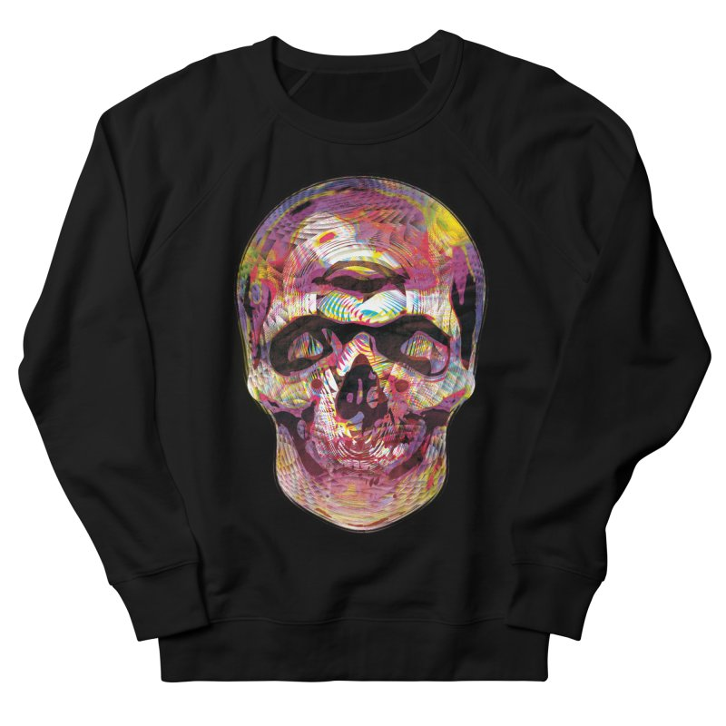 Sharped skull Men's French Terry Sweatshirt by re3a's Artist Shop