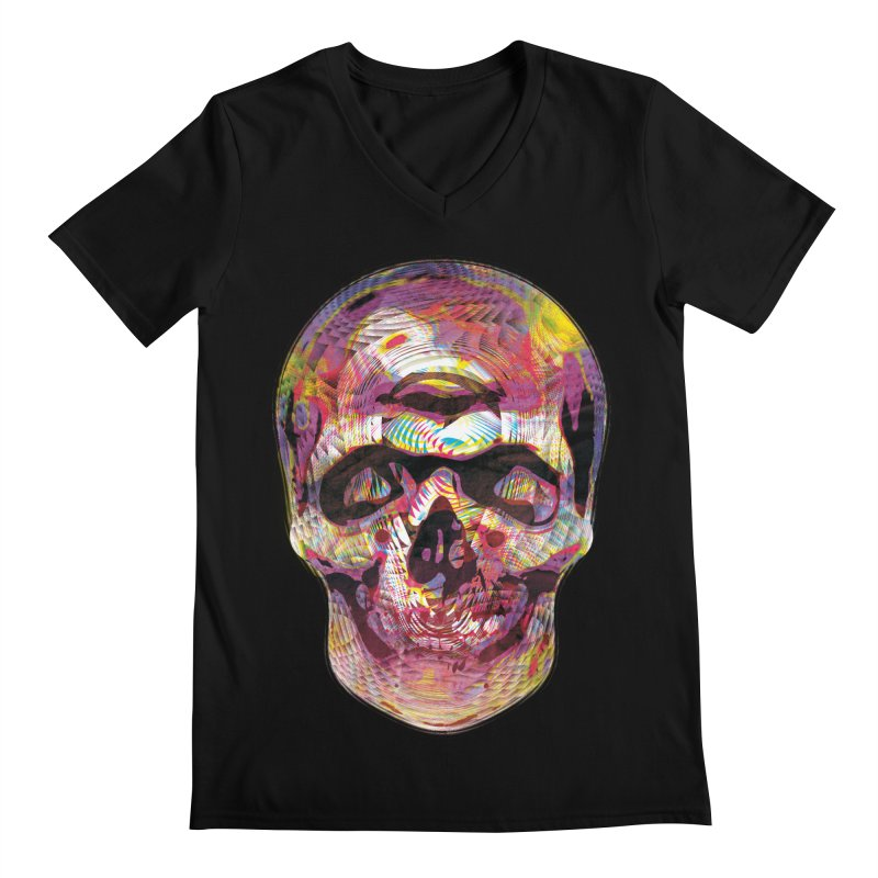 Sharped skull Men's Regular V-Neck by re3a's Artist Shop