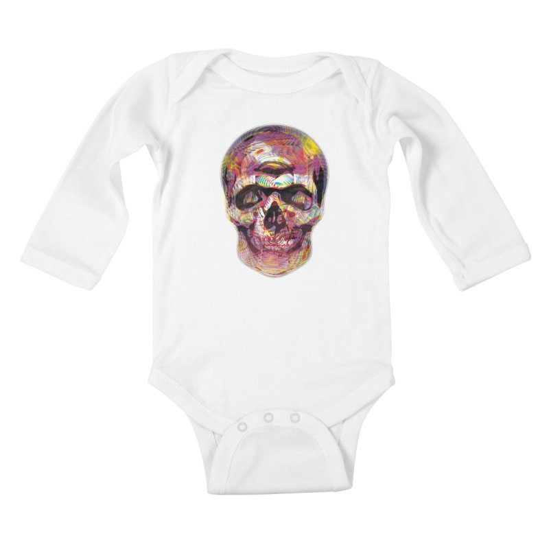 Sharped skull Kids Baby Longsleeve Bodysuit by re3a's Artist Shop